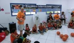Clinic di minibasket in Brasile