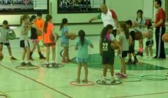 Lezione di Minibasket in una Scuola Primaria