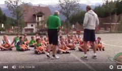 La lezione di Minibasket all'Happy Camp 2015