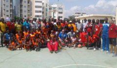 Clinic Minibasket-Basket a Bamako in Mali